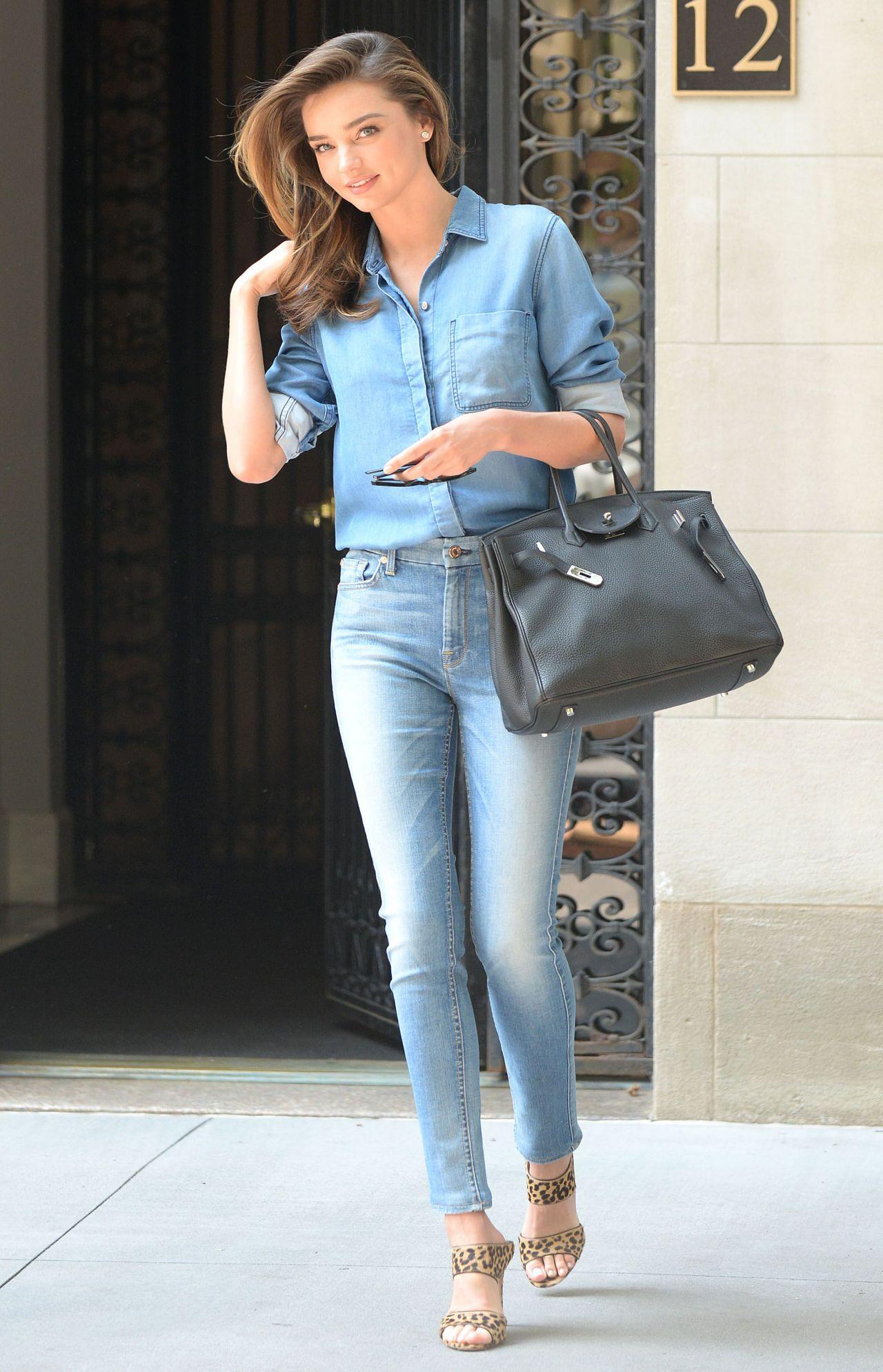 miranda kerr in jeans out in new york city  july 2014