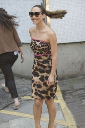 Myleene Klass in Mini Dress - Leaving the ITV studios in London - July 2014
