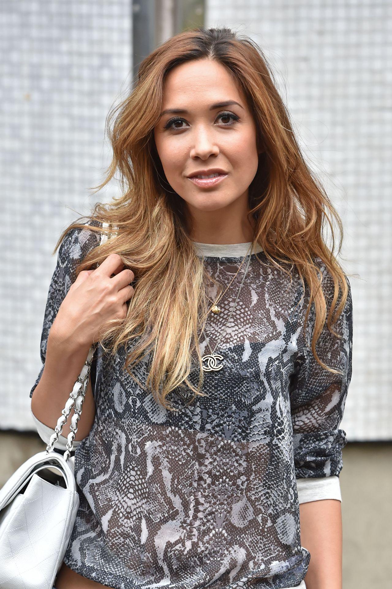 Myleene Klass - Leaving the ITV studios in London - July 2014