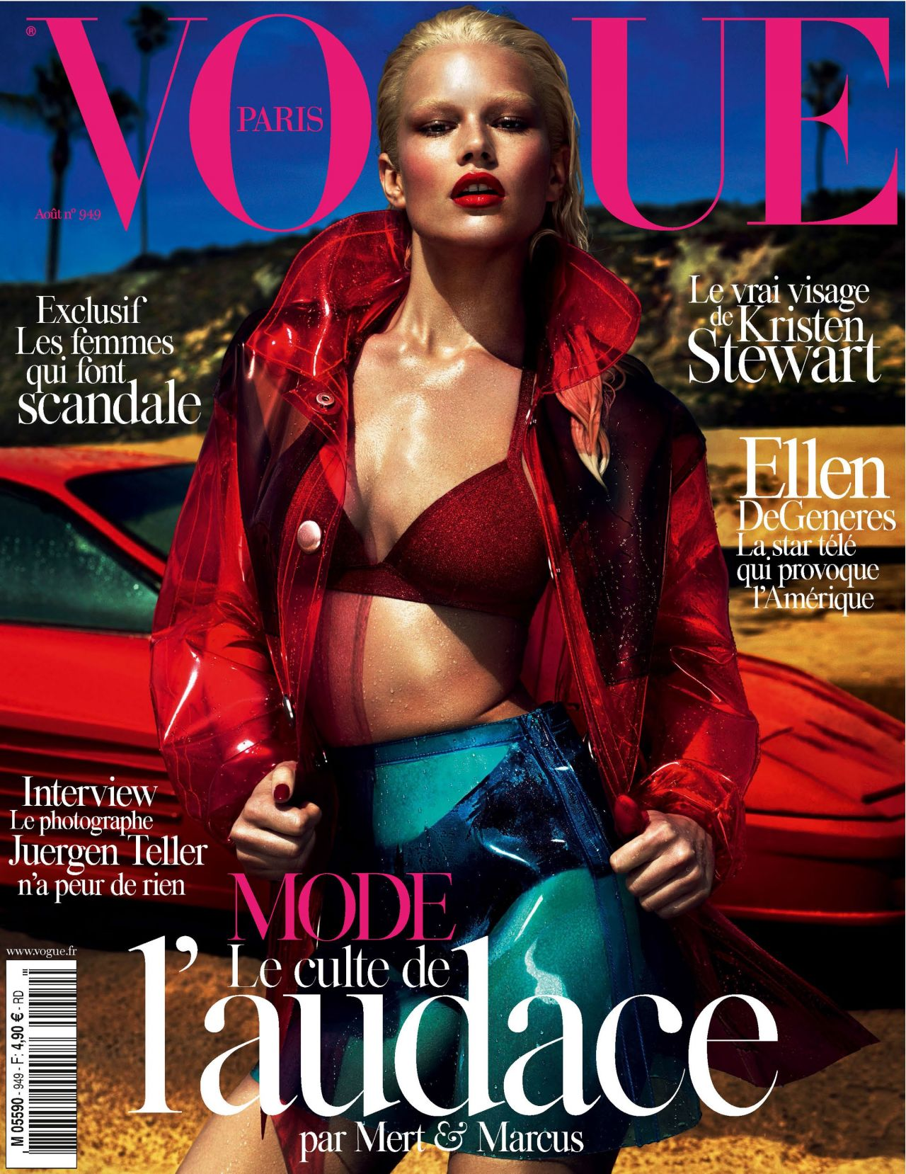 Natasha Poly - Vogue Magazine (Paris) - August 2014 Cover