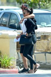 Naya Rivera in Tights - Out  in LA With Her Boyfriend - July 2014