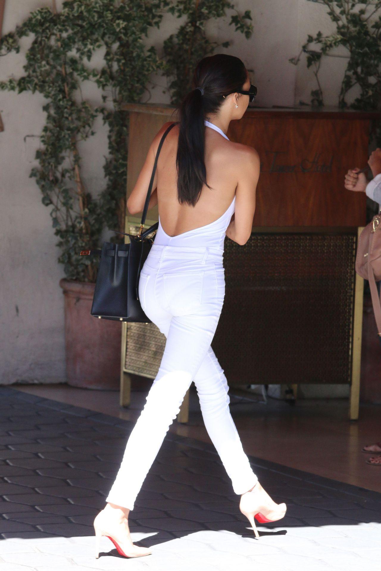Naya Rivera Shows Off Skinny Body Arriving At Sunset