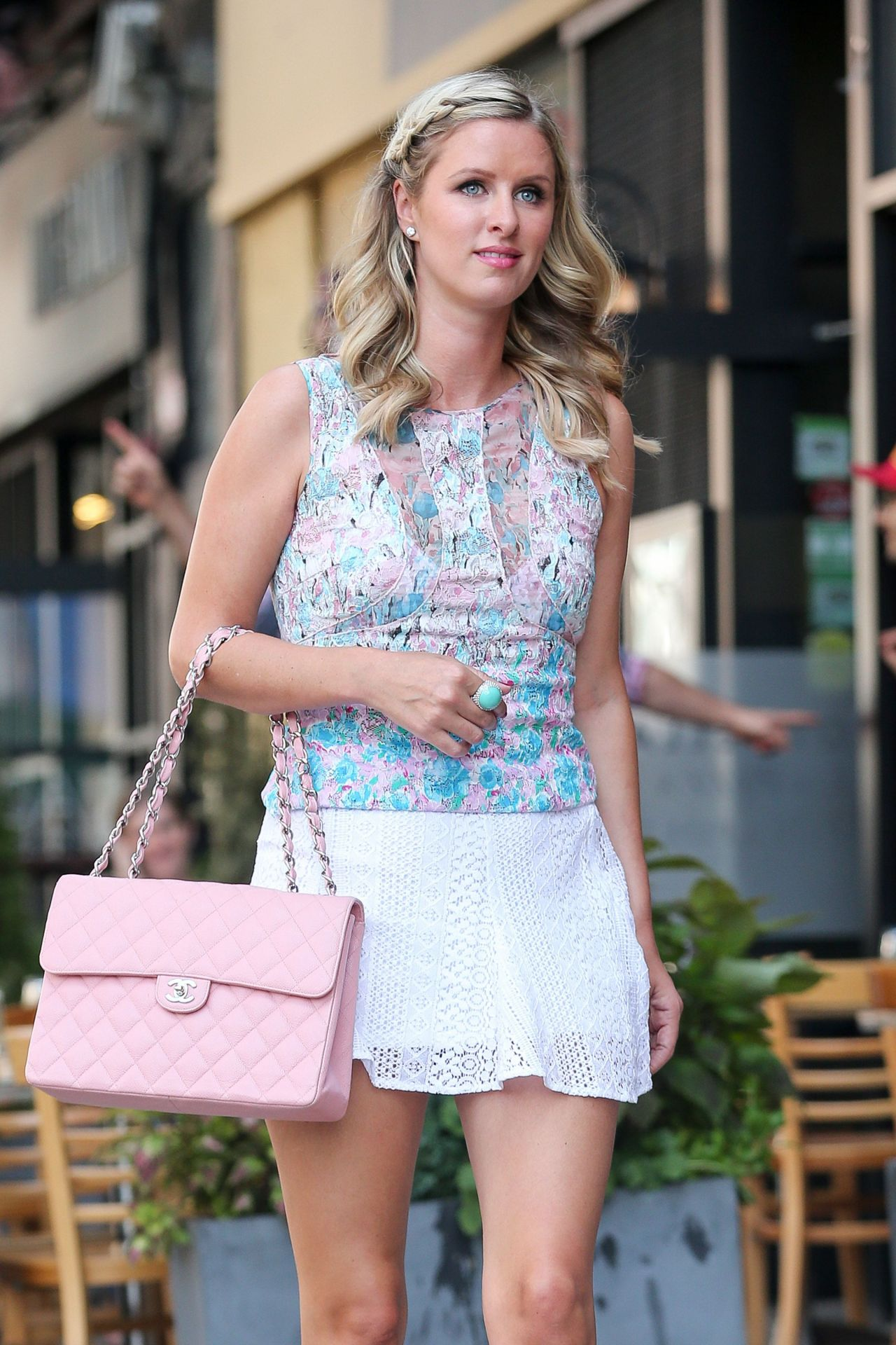 Nicky Hilton in Mini Skirt - Out in New York City - July 2014