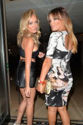 Nicola McLean & Maria Fowler Night Out Style - The Mayfair Hotel in London - July 2014