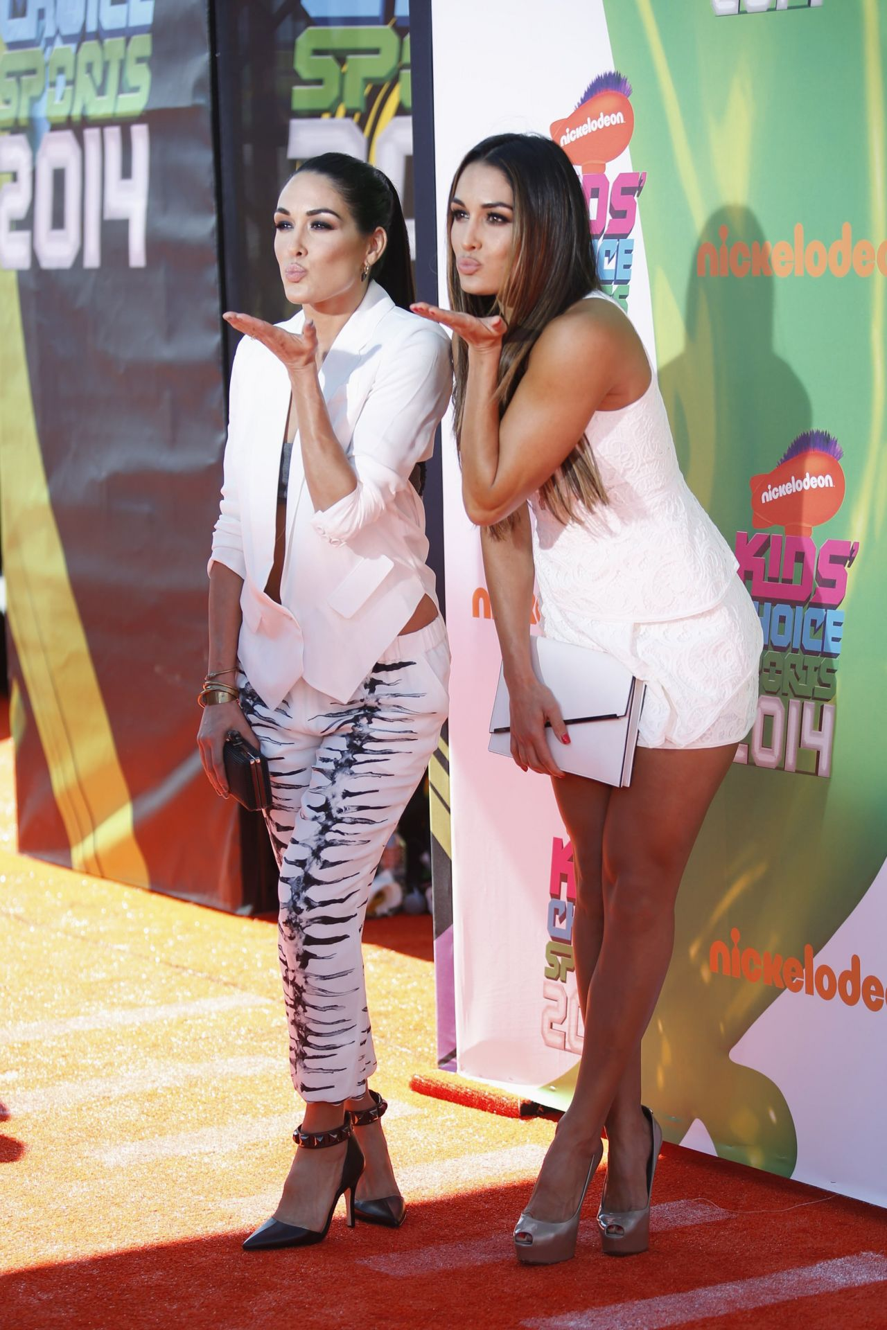 Nicole Garcia & Brianna Garcia - Kids Choice Sports Awards in Los Angeles