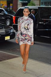 Nicole Richie Shows Off Her Slim Legs - Arriving at Her Hotel in NYC - July 2014