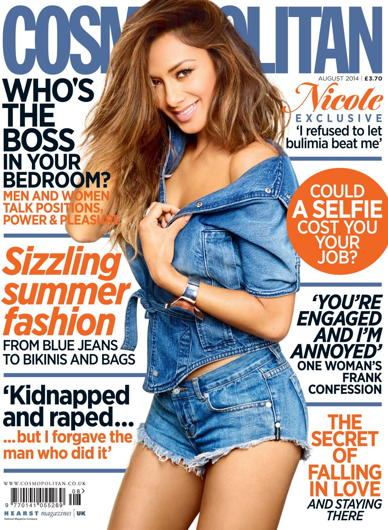 Nicole Scherzinger - Cosmopolitan Magazine (UK) - August 2014 Cover