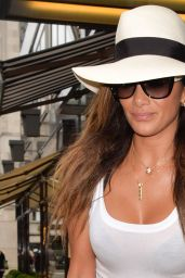 Nicole Scherzinger in Jeans - Leaving Ceccon's Restaurant in London - July 2014