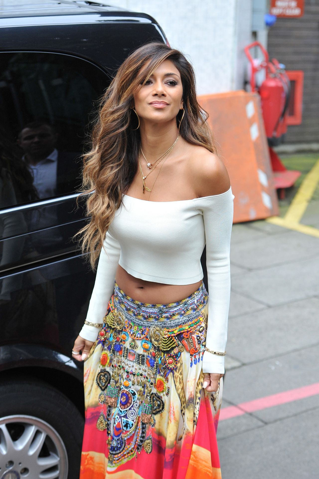 Nicole Scherzinger Outside The Itv Studios In London