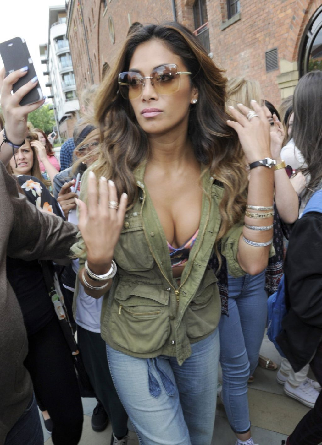 Nicole Scherzinger Street Style - at Key 103 Radio in England - July 2014