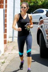 Nikki Reed Comes Out of Gym in Los Angeles - July 2014