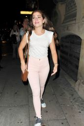 Nikki Sanderson Out With Friends in Liverpool - July 2014