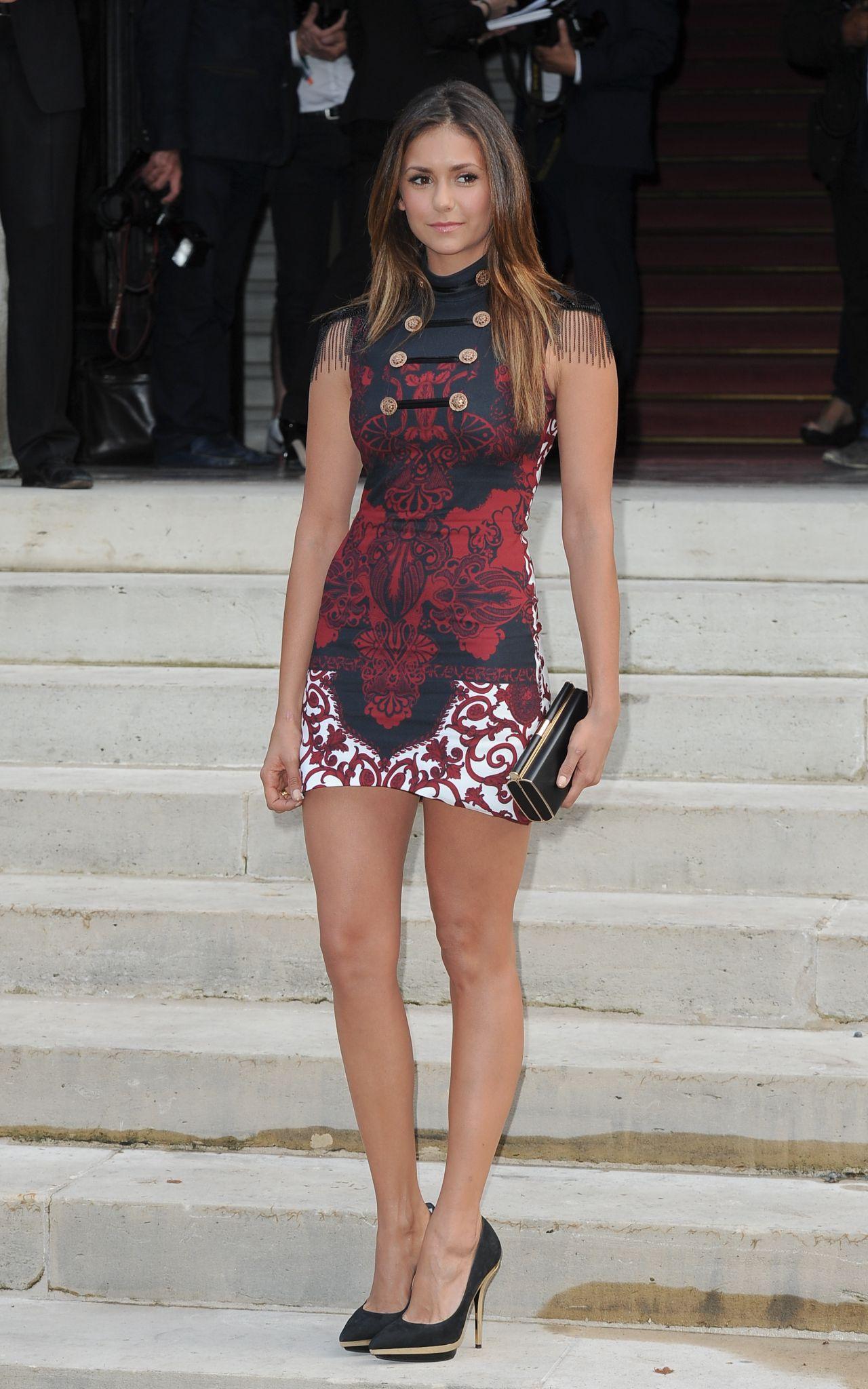 Nina Dobrev At Versace