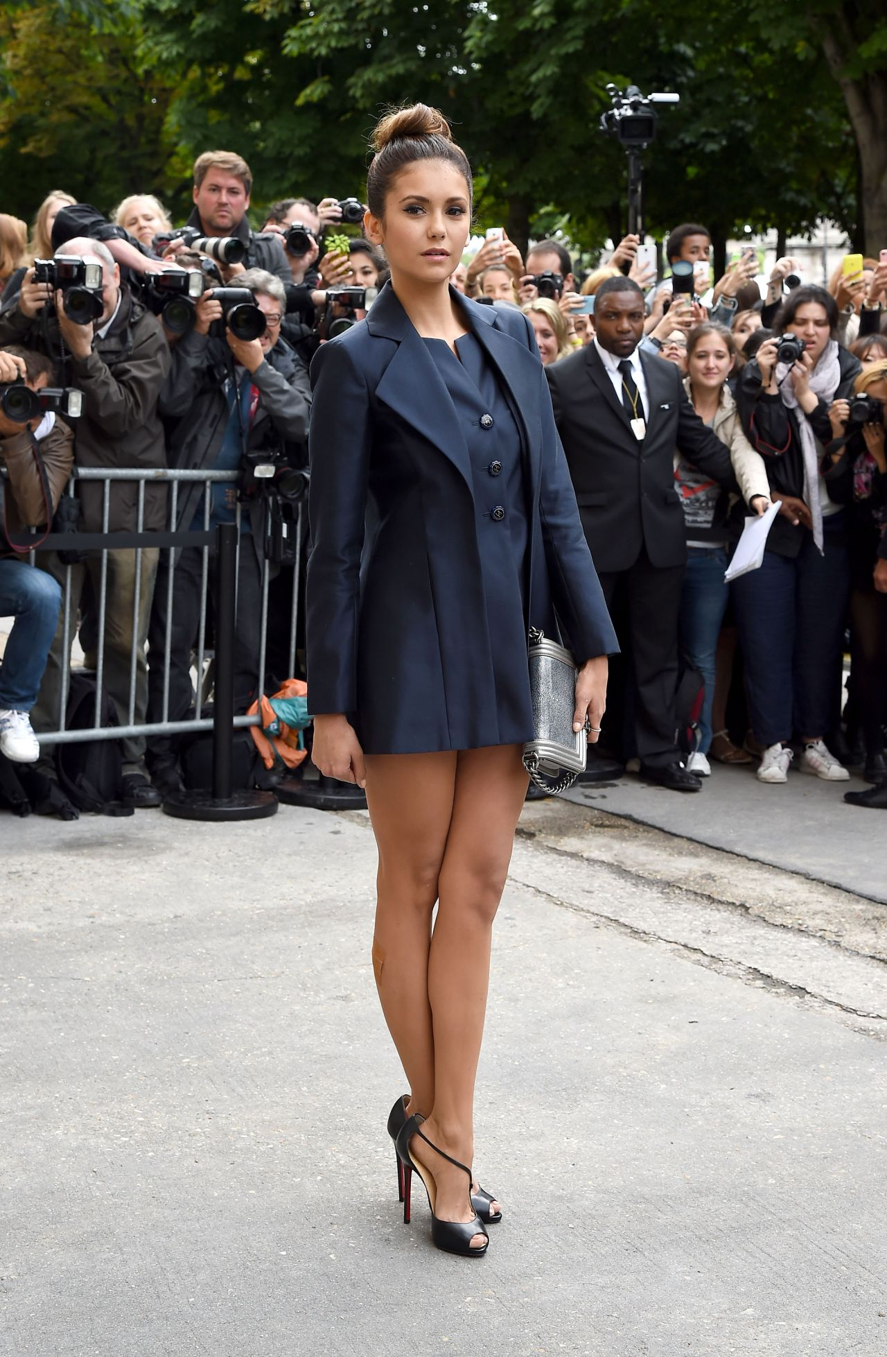 Nina Dobrev Chanel Fashion Show During Paris Fashion Week July 2014