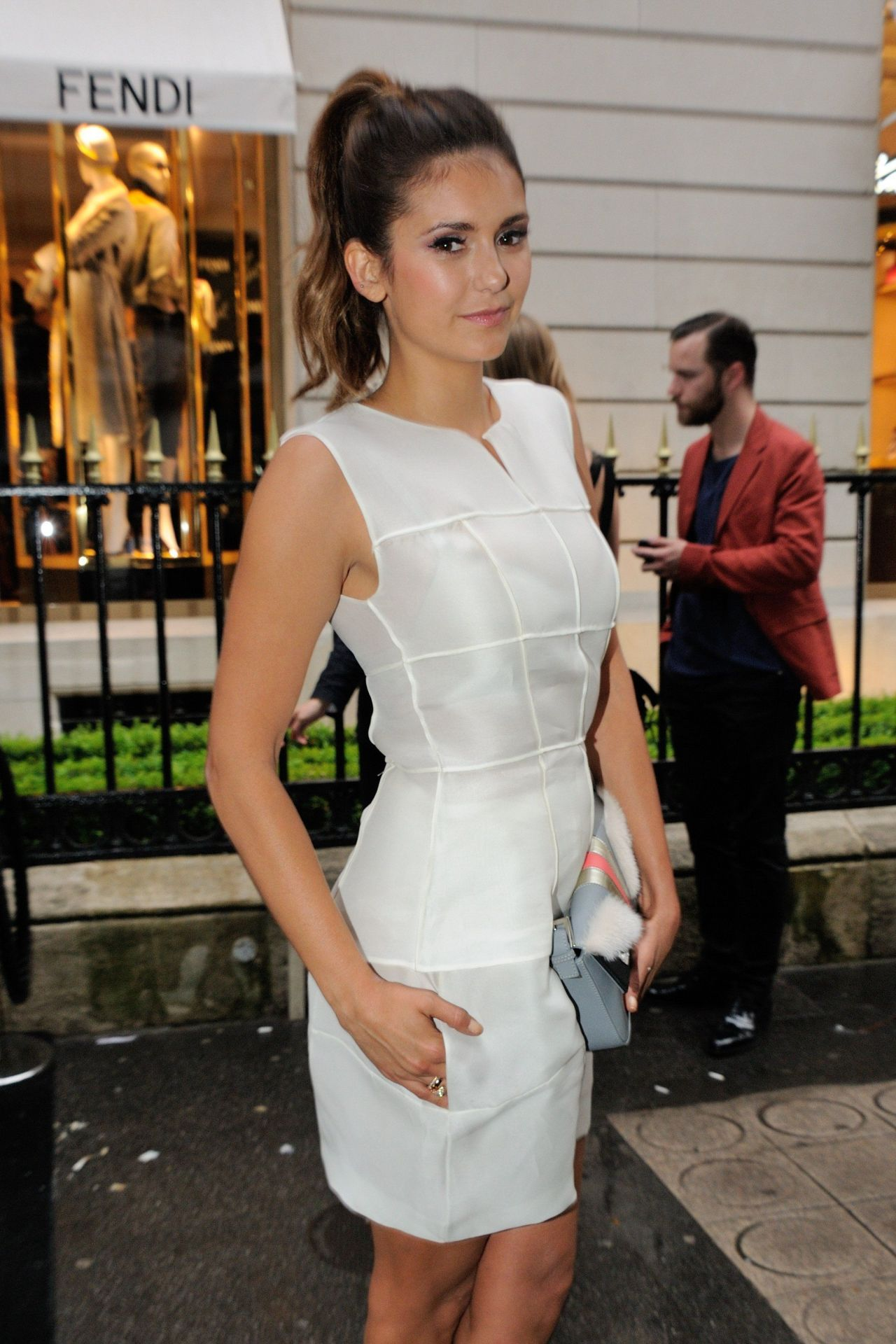 Nina Dobrev - Fendi Karlito Cocktail Party in Paris - July 2014