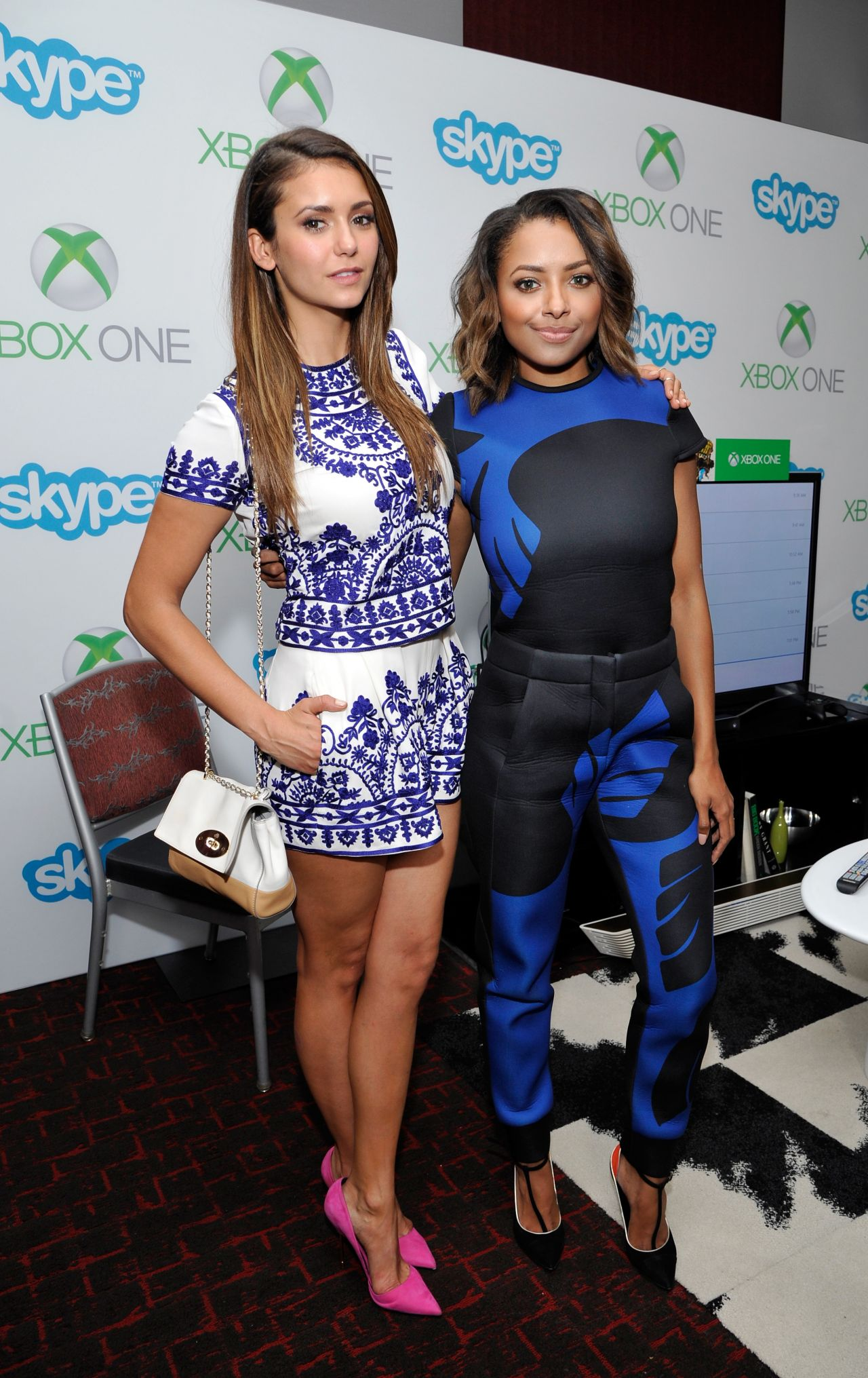 Nina Dobrev & Kat Graham - Microsoft VIP Lounge At The Hard Rock Hotel in San Diego