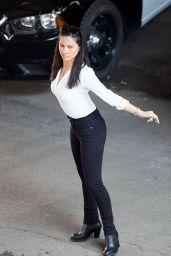 Olivia Munn on the Set of