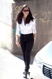 Olivia Munn on the Set of