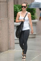 Olivia Wilde in Tights - Another Rainy Day in New York City - July 2014