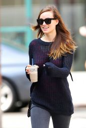 Olivia Wilde Street Style - Out in NYC, July 2014