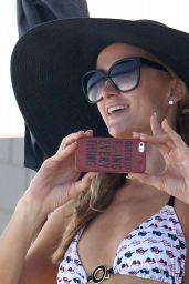 Paris Hilton in a Bikini at a Beach Party in Malibu - July 2014