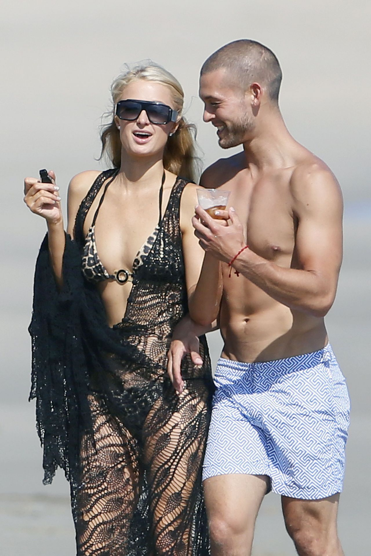 Paris Hilton in a Bikini on the Beach in Malibu - July 2014