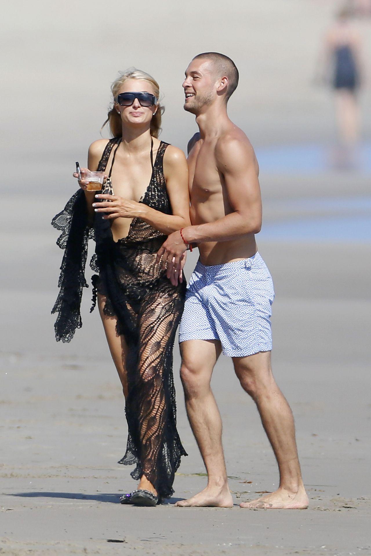 Paris Hilton In A Bikini On The Beach In Malibu July 2014
