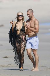 Paris Hilton in a Bikini on the Beach in Malibu - July 2014