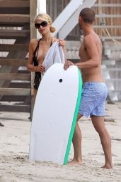Paris Hilton Swimsuit Candids - With Her Boyfriend in Malibu, July 2014