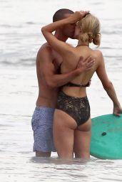 Paris Hilton Swimsuit Candids - With Her Boyfriend in Malibu, July 2014