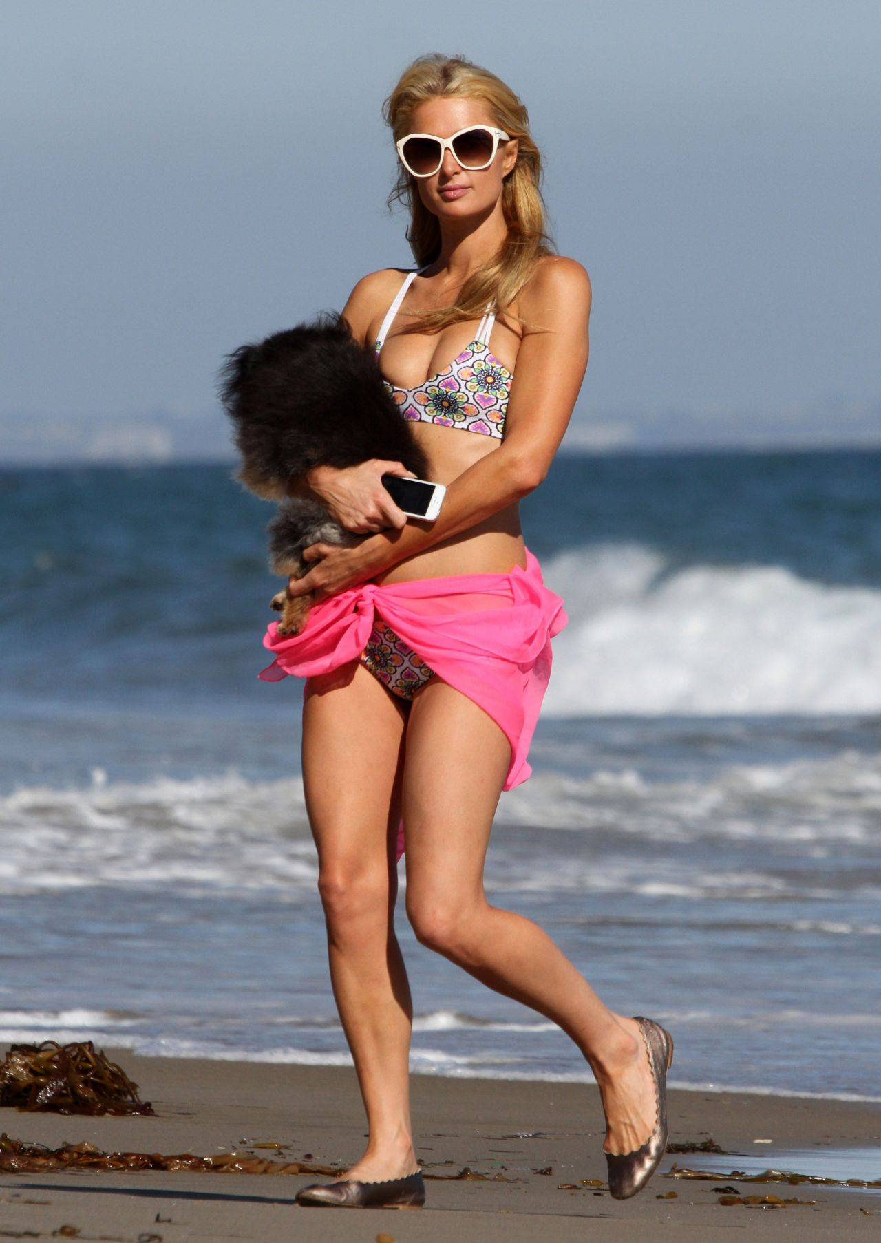 Paris Hilton Wearing A Bikini In Malibu July 2014
