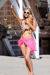 Paris Hilton Wearing a Bikini in Malibu - July 2014