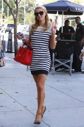 Paris Hilton wearing Mini Skirt - Leaving a Skin Care Salon in Beverly Hills