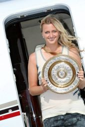 Petra Kvitova arrival in the Czech Republic after Wimbledon 2014 Victory