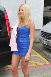Pixie Lott Hot in Mini Dress - Leaving ITV Studios in London - July 2014