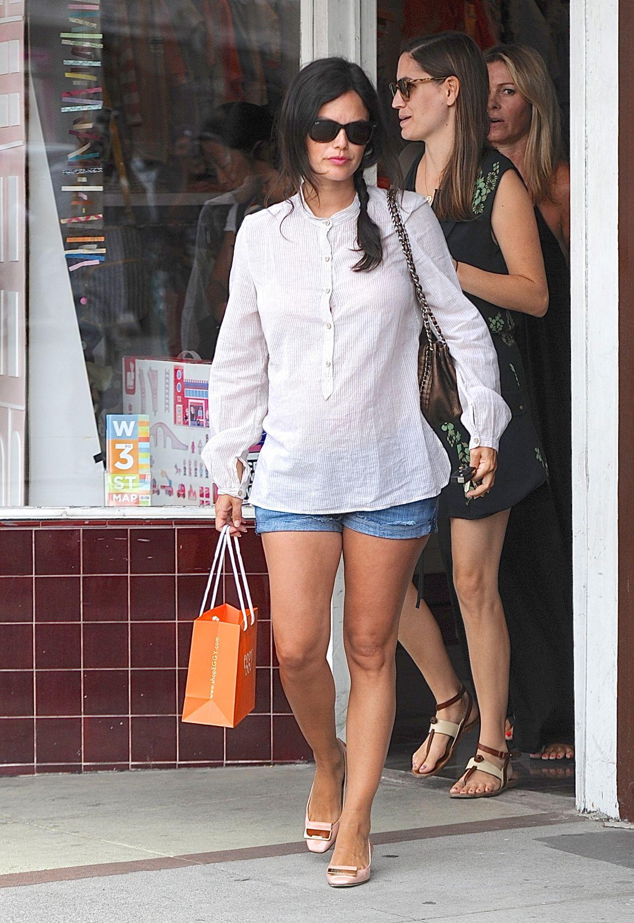 Rachel Bilson in Jeans Shorts - Shopping at Eggy Children