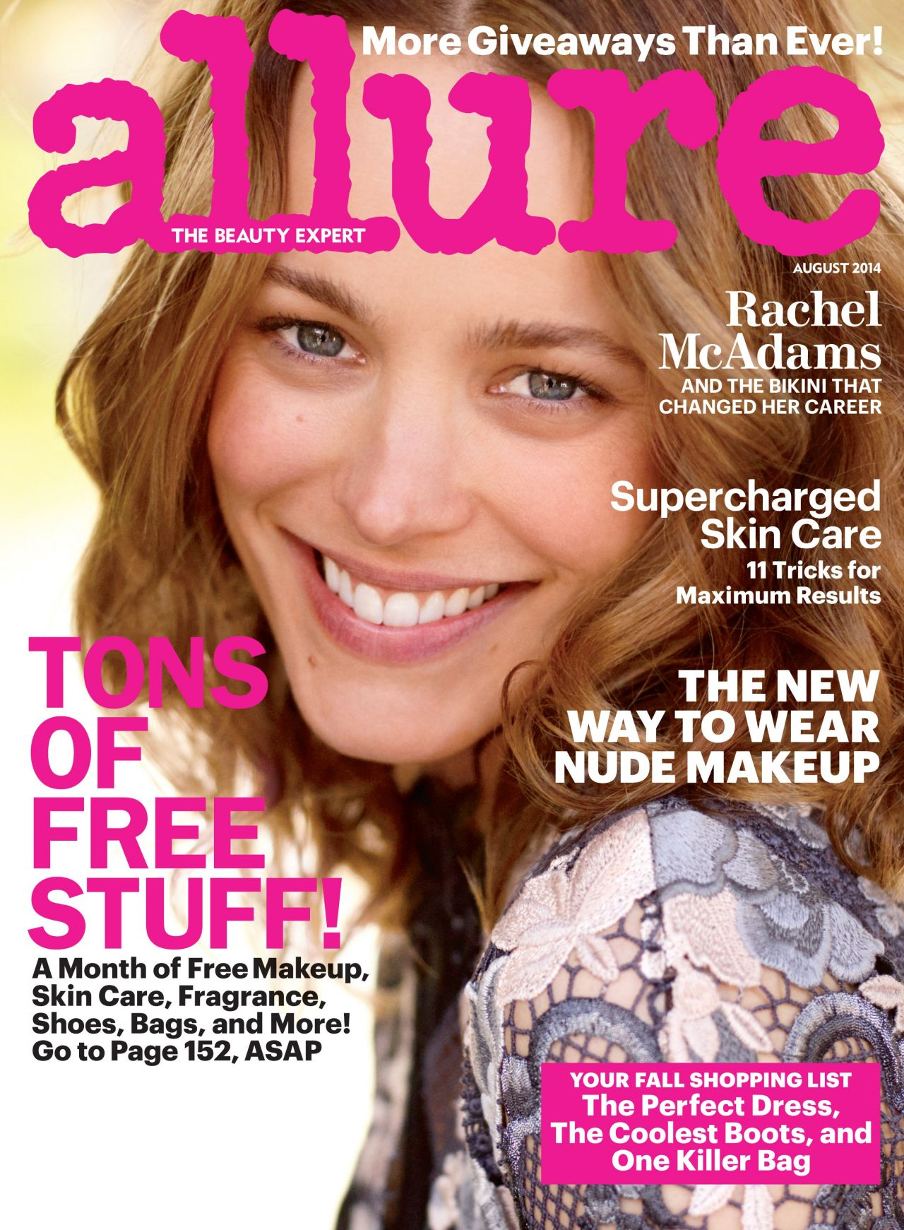 Rachel McAdams - Allure Magazine Cover - August 2014