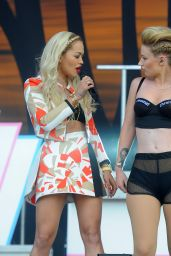 Rita Ora & Iggy Azalea Performs at Wireless Festival in Finsbury Park in London - July 2014