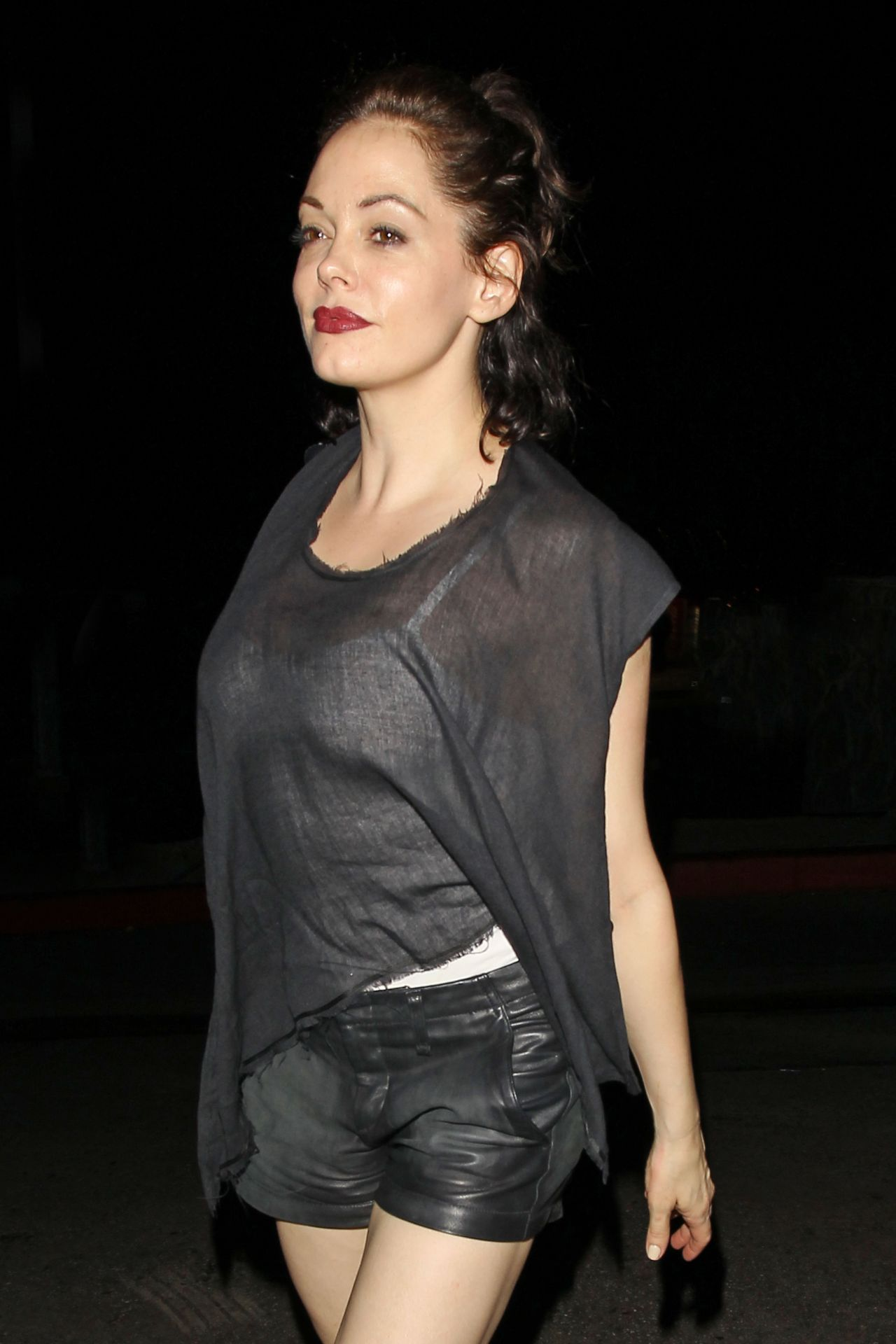 Rose Mcgowan Night Out Style Chateau Marmont In West