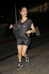 Rose McGowan Night Out Style - Chateau Marmont in West Hollywod - July 2014