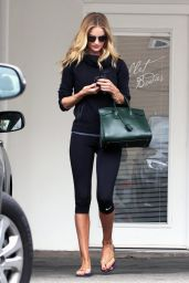 Rosie Huntington-Whiteley in tights Leaving the Gym in West Hollywood - July 2014