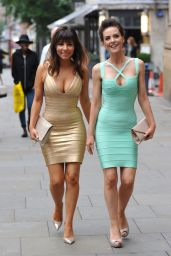 Roxanne Pallett & Stephanie Waring Similar Bandage Style Dresses For a Night Out in Manchester