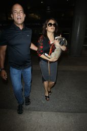 Salma Hayek Spotted at LAX Airport - July 2014