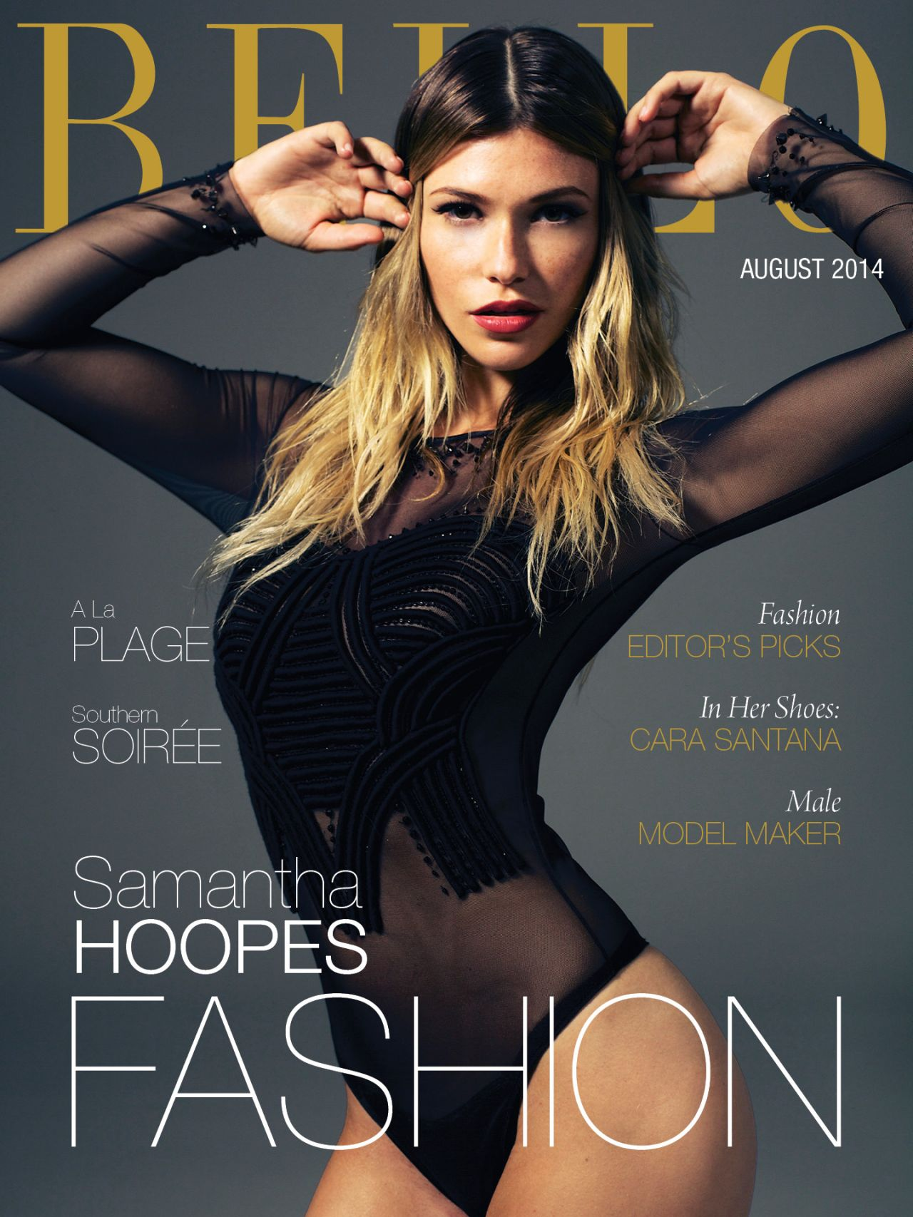 Samantha Hoopes - BELLO Magazine August 2014 Cover