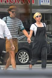 Scarlett Johansson With Her Fiance in New York City - July 2014