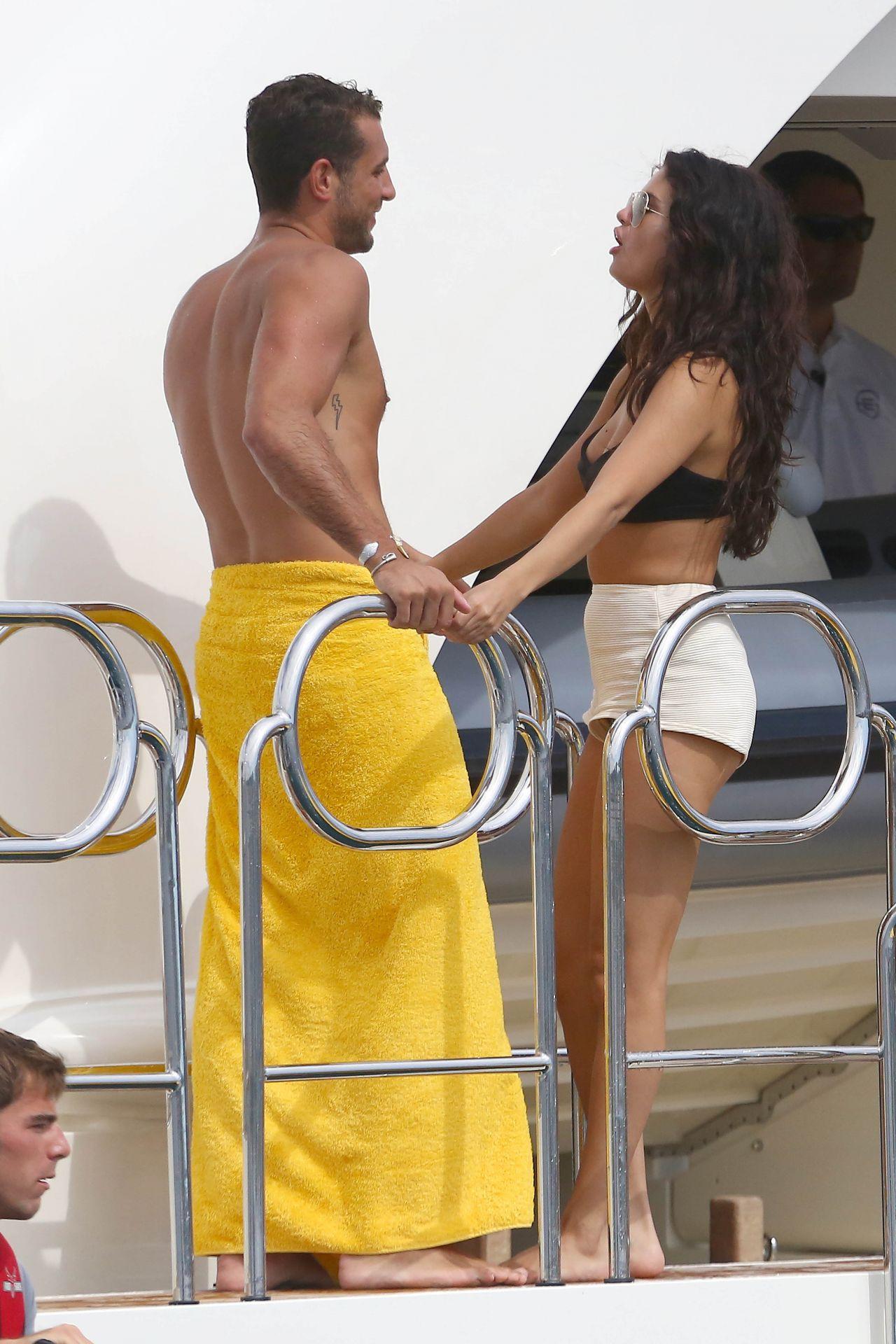 selena gomez and cara delevingne bikini candids yacht in