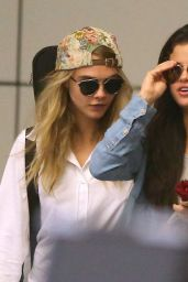 Selena Gomez & Cara Delevingne at LAX Airport in LA - July 2014