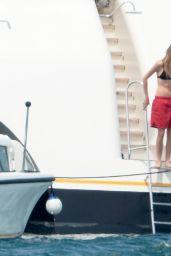 Selena Gomez in a Swimsuit on a Boat in St Tropez (France) - July 2014