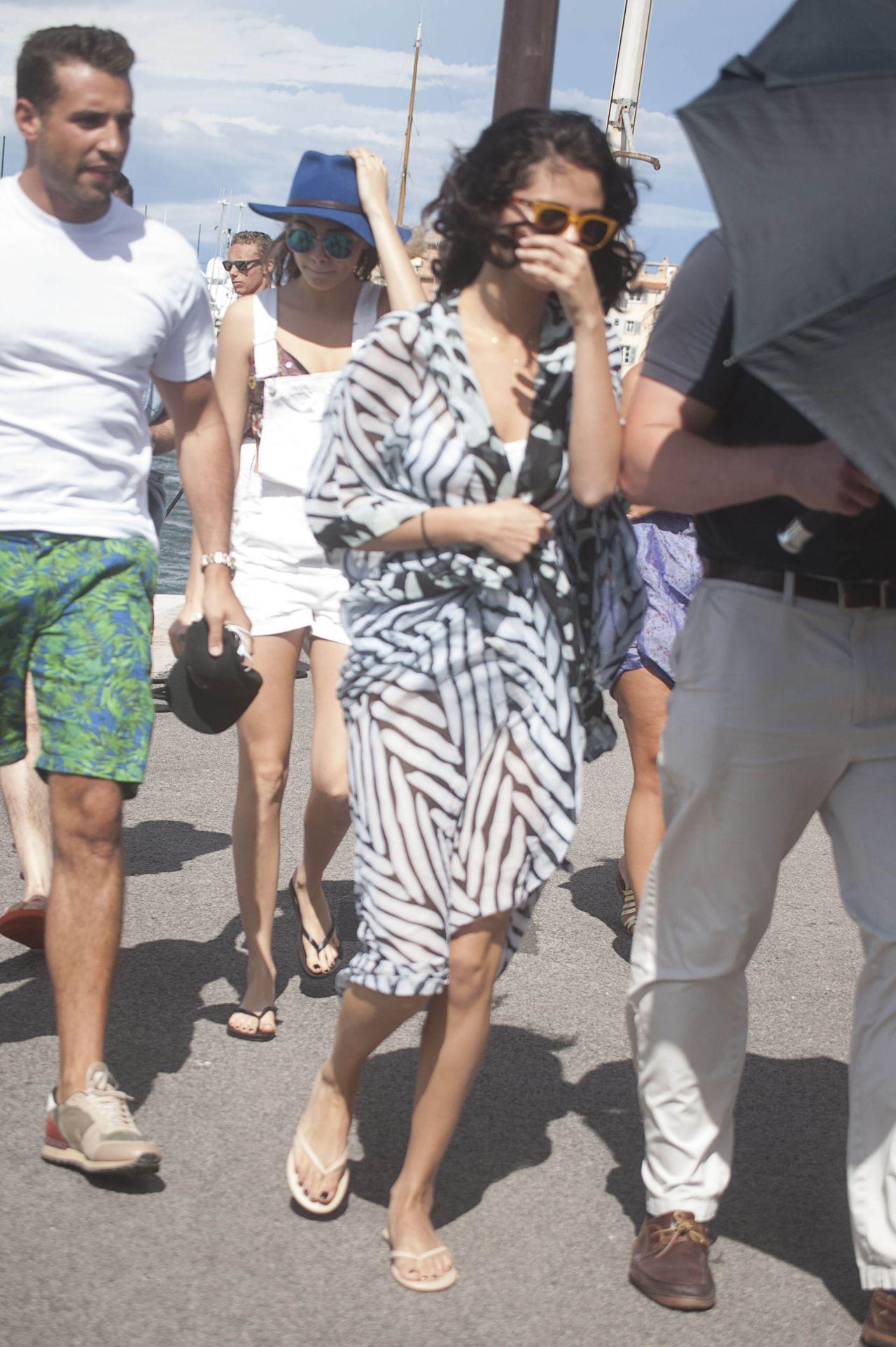 Selena Gomez In A Swimsuit On A Boat In St Tropez France