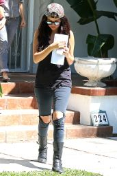 Selena Gomez Street Style - Visiting Her Acting Coach in LA, July 2014
